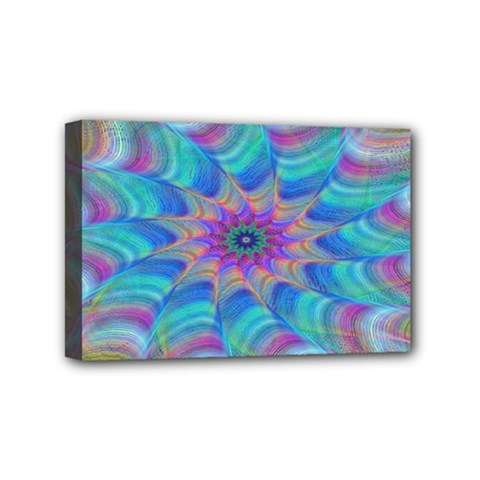Fractal Curve Decor Twist Twirl Mini Canvas 6  X 4  by Sapixe