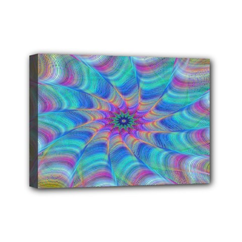 Fractal Curve Decor Twist Twirl Mini Canvas 7  X 5  by Sapixe