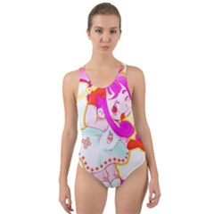 Oopsi Cut Out Back One Piece Swimsuit by psychodeliciashop