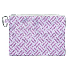 Woven2 White Marble & Purple Glitter (r) Canvas Cosmetic Bag (xl)