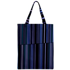 Shades Of Blue Stripes Striped Pattern Classic Tote Bag