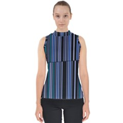Shades Of Blue Stripes Striped Pattern Shell Top