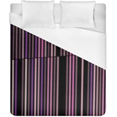 Shades Of Pink And Black Striped Pattern Duvet Cover (california King Size)