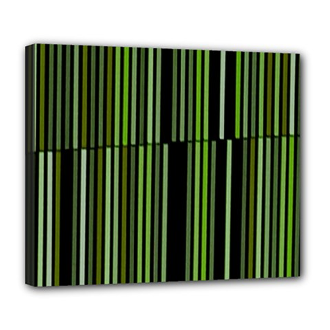 Shades Of Green Stripes Striped Pattern Deluxe Canvas 24  X 20   by yoursparklingshop