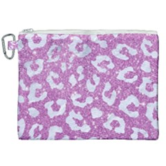 Skin5 White Marble & Purple Glitter (r) Canvas Cosmetic Bag (xxl) by trendistuff