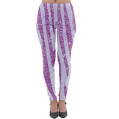 Skin4 White Marble & Purple Glitter Lightweight Leggings by trendistuff