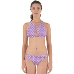 Scales3 White Marble & Purple Glitter Perfectly Cut Out Bikini Set by trendistuff