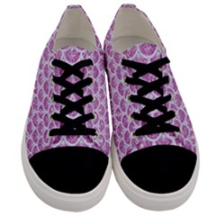 Scales3 White Marble & Purple Glitter Men s Low Top Canvas Sneakers
