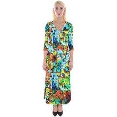 Birds   Caged And Free Quarter Sleeve Wrap Maxi Dress by bestdesignintheworld