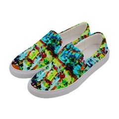 Birds   Caged And Free Women s Canvas Slip Ons by bestdesignintheworld