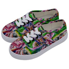 Budha Denied The Shine Of The World Kids  Classic Low Top Sneakers by bestdesignintheworld