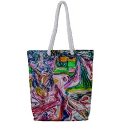 Budha Denied The Shine Of The World Full Print Rope Handle Tote (small) by bestdesignintheworld