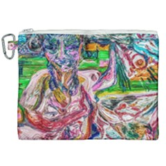 Budha Denied The Shine Of The World Canvas Cosmetic Bag (xxl)