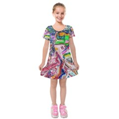 Budha Denied The Shine Of The World Kids  Short Sleeve Velvet Dress by bestdesignintheworld