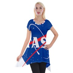 Nasa Logo Short Sleeve Side Drop Tunic