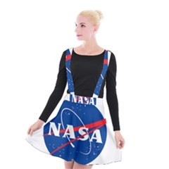 Nasa Logo Suspender Skater Skirt