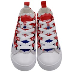Pepsi Cola Bottle Cap Style Metal Kid s Mid Top Canvas Sneakers