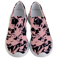 Old Rose Black Abstract Military Camouflage Women s Lightweight Slip Ons by Costasonlineshop