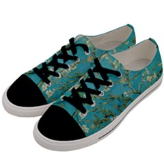 Almond Blossom  Men s Low Top Canvas Sneakers by Valentinaart