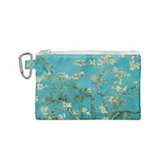 Almond Blossom  Canvas Cosmetic Bag (small)