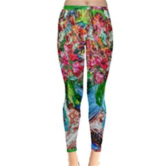 Paint, Flowers And Book Inside Out Leggings by bestdesignintheworld