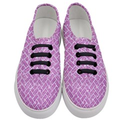 Brick2 White Marble & Purple Glitter Women s Classic Low Top Sneakers