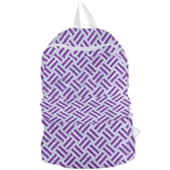 Woven2 White Marble & Purple Denim (r) Foldable Lightweight Backpack