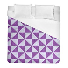 Triangle1 White Marble & Purple Denim Duvet Cover (full/ Double Size) by trendistuff