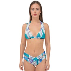 Marine On Balboa Island Double Strap Halter Bikini Set by bestdesignintheworld