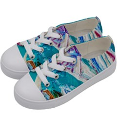 Marine On Balboa Island Kids  Low Top Canvas Sneakers by bestdesignintheworld