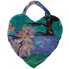 Magnolia By The River Bank Giant Heart Shaped Tote