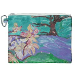 Magnolia By The River Bank Canvas Cosmetic Bag (xxl) by bestdesignintheworld