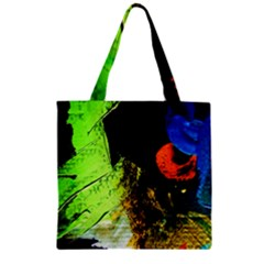 I Wonder Zipper Grocery Tote Bag by bestdesignintheworld