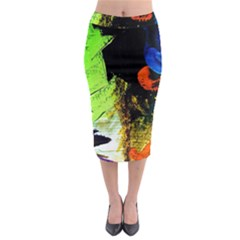 I Wonder Midi Pencil Skirt by bestdesignintheworld