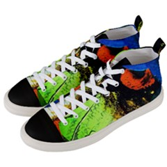 I Wonder Men s Mid Top Canvas Sneakers by bestdesignintheworld