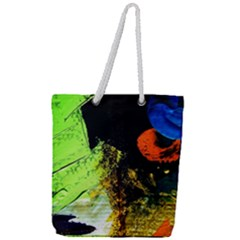 I Wonder Full Print Rope Handle Tote (large) by bestdesignintheworld