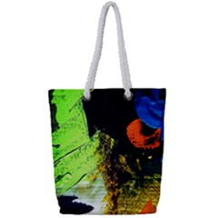 I Wonder Full Print Rope Handle Tote (small) by bestdesignintheworld