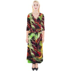 Enigma 1 Quarter Sleeve Wrap Maxi Dress by bestdesignintheworld