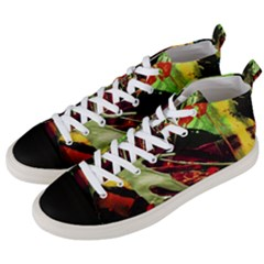 Enigma 1 Men s Mid Top Canvas Sneakers by bestdesignintheworld
