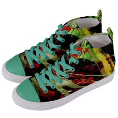Enigma 1 Women s Mid Top Canvas Sneakers by bestdesignintheworld