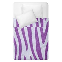 Skin4 White Marble & Purple Denim Duvet Cover Double Side (single Size) by trendistuff