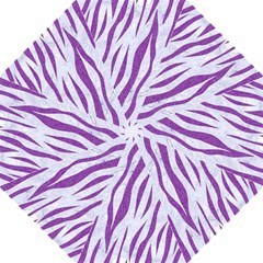 Skin3 White Marble & Purple Denim (r) Folding Umbrellas by trendistuff