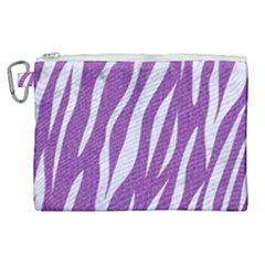 Skin3 White Marble & Purple Denim Canvas Cosmetic Bag (xl) by trendistuff