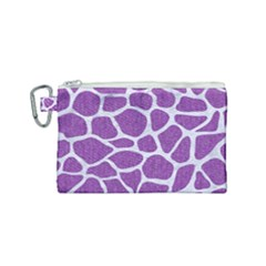 Skin1 White Marble & Purple Denim (r) Canvas Cosmetic Bag (small) by trendistuff