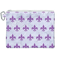 Royal1 White Marble & Purple Denim Canvas Cosmetic Bag (xxl) by trendistuff