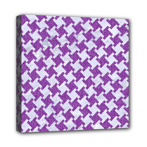 Houndstooth2 White Marble & Purple Denim Multi Function Bag	 by trendistuff