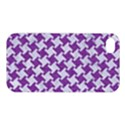 HOUNDSTOOTH2 WHITE MARBLE & PURPLE DENIM Apple iPhone 4/4S Hardshell Case View1
