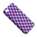 HOUNDSTOOTH2 WHITE MARBLE & PURPLE DENIM Apple iPhone 4/4S Hardshell Case View5
