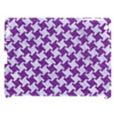 HOUNDSTOOTH2 WHITE MARBLE & PURPLE DENIM Apple iPad 3/4 Hardshell Case (Compatible with Smart Cover) View1