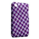 HOUNDSTOOTH2 WHITE MARBLE & PURPLE DENIM iPhone 3S/3GS View2